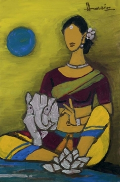 Parvati with Ganesh, 2001