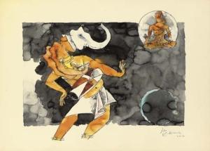 Ganesha on Mridanga, 80s