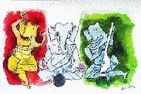 Ganesha on Tricolour, 1997