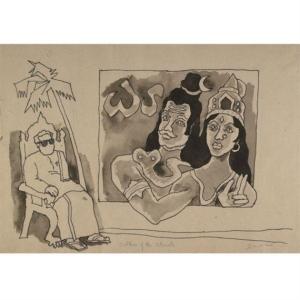 Shiva-Parvati on a cinema poster