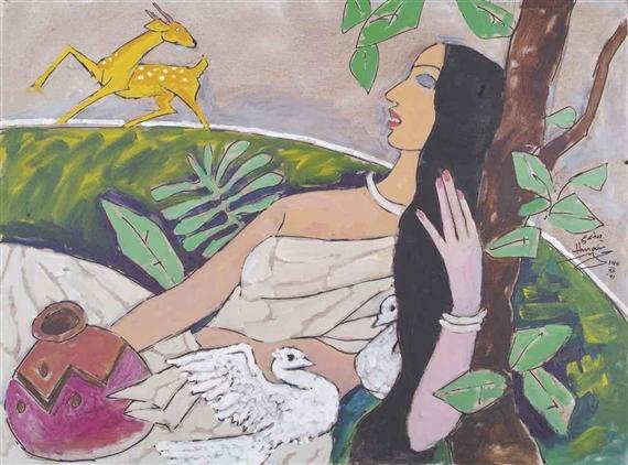 Sita with Golden Deer 91